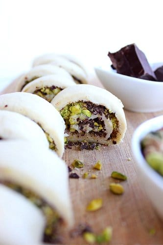 rolls of rugelach pre baking