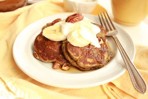 Gluten Free Pancakes with Bananas, Buckwheat, and Buttermilk