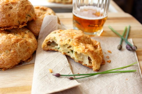 cheddar and chive gougere