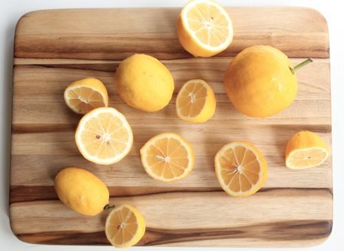 lemons on a board