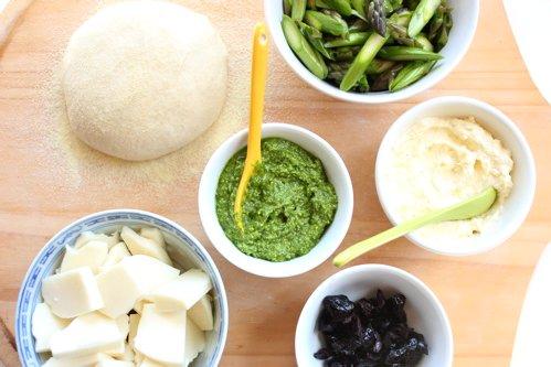 bowls of asparagus