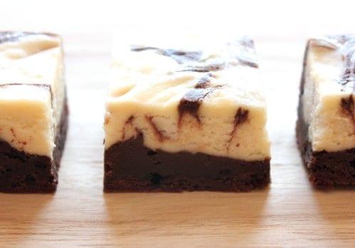 three gluten free brownies