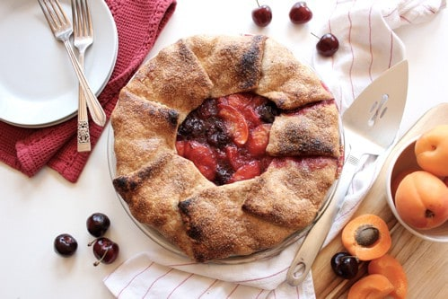 cherry apricot fold over pie