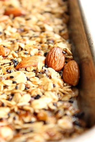 close up of granola
