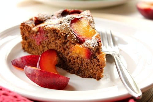 slice of plum cake