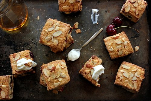 overhead shot of cherry scones