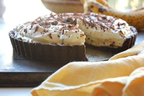 cream tart on a table