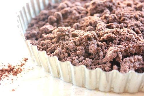 crumble in baking dish