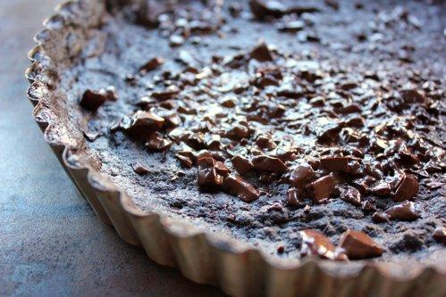 close up of tart crust