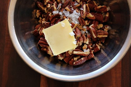 pecans in a bowl  with butter