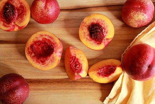 nectarine halves