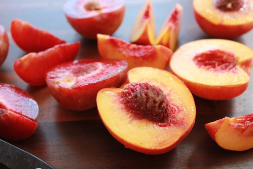 halved nectarines