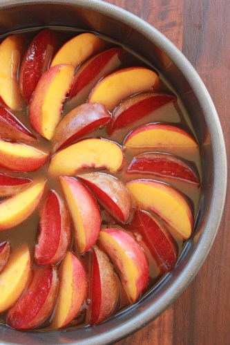 plums in a dish