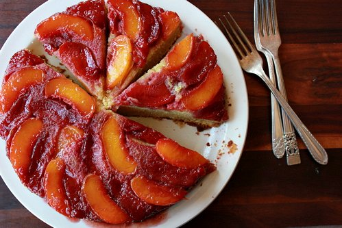 delicious nectarine plum upside down cake