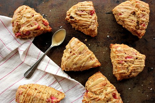 top down shot of apple scones