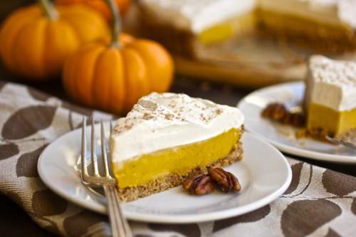 slice of pumpkin tart