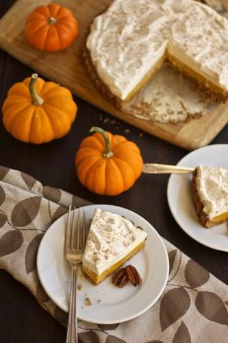 slices of pumpkin tart