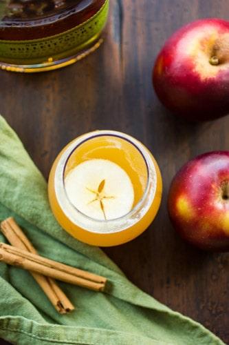 top down shot of apple cider
