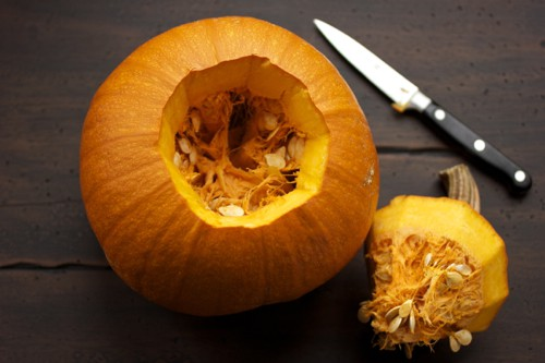 hollowed out pumpkin