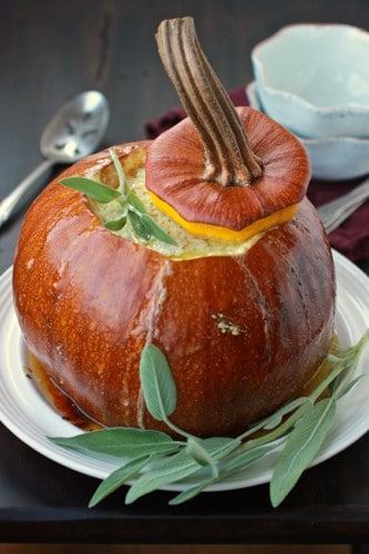 baked pumpkin on aplate