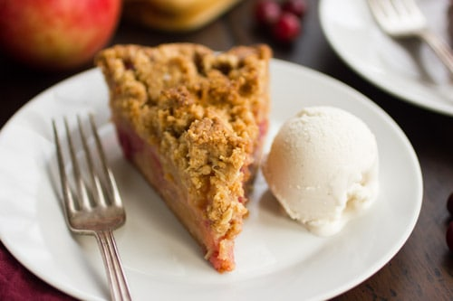 slice of crumble pie