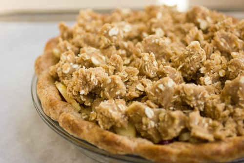 crumble pie topping