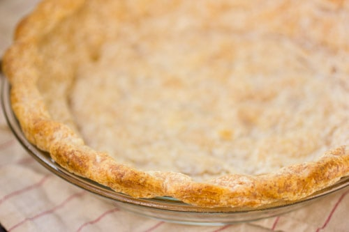 close up of all butter pie crust