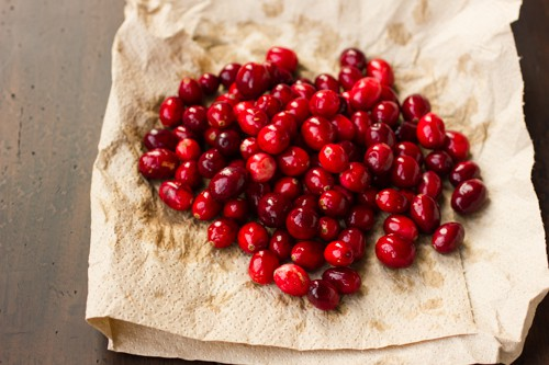 cranberries on cloth