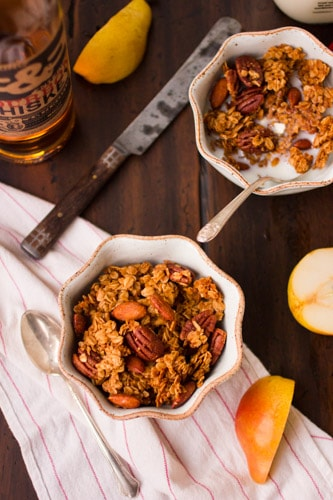 bowls of maple brown butter granola