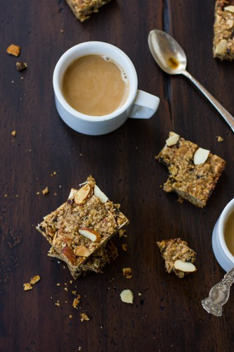 top down shot of dairy free and gluten free breakfast bars
