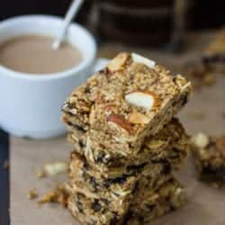 stack of gluten free breakfast bars