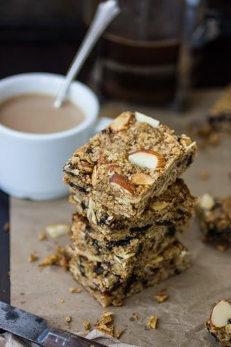 stack of breakfast bars