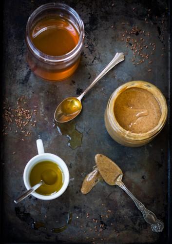 honey in a jar