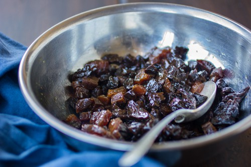diced prunes in a bowl