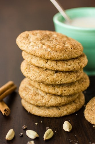 stack of delicious masala chai snickerdoodles