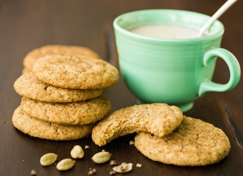 masala chai snickerdoodles and a cup of tea