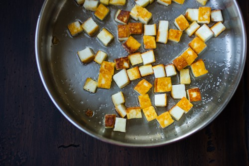 paneer cooking in a pot