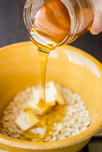 honey poured into bowl