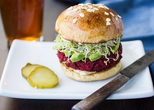 quinoa beetroot chickpea burger