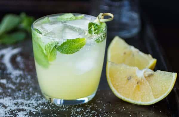 refreshing bergamot mojito cocktail