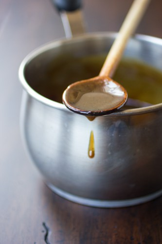 sauce on a spoon
