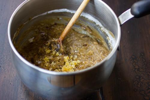 pudding mix being stirred