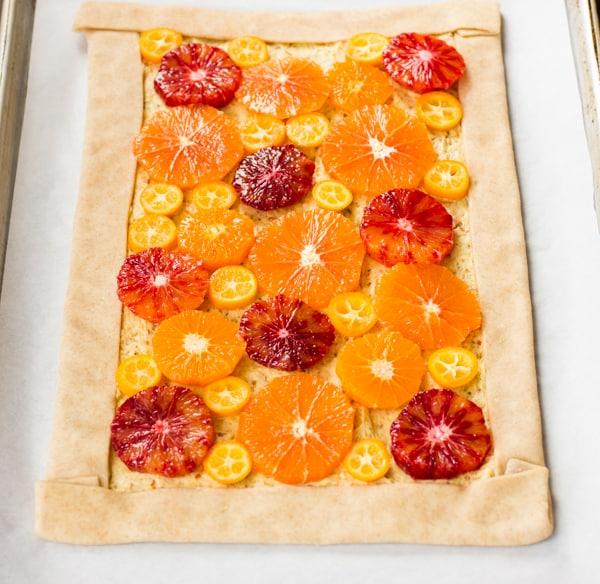 almond tart pre baking