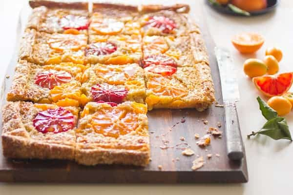 delicious rustic citrus almond tart