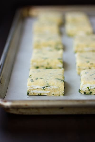 cheese and chive biscuits before baking