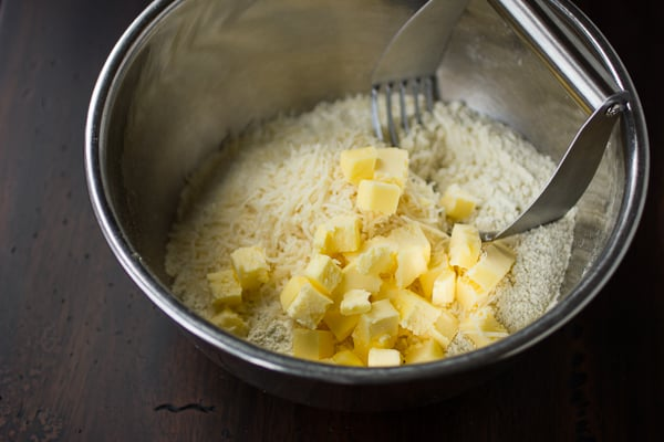 blocks of butter in a bowl