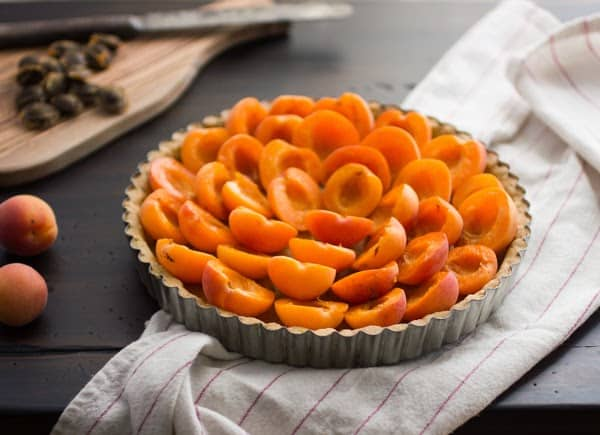 apricots on top of tarts