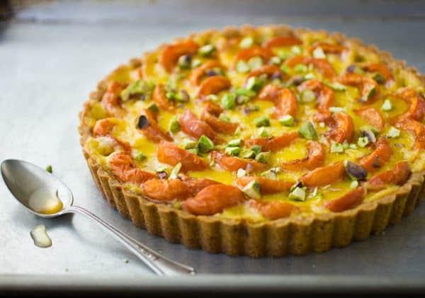 apricot creme fraiche tart pre baking