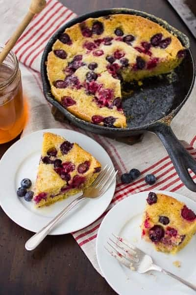 skillet berry cornbread