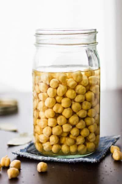 jar of chickpeas